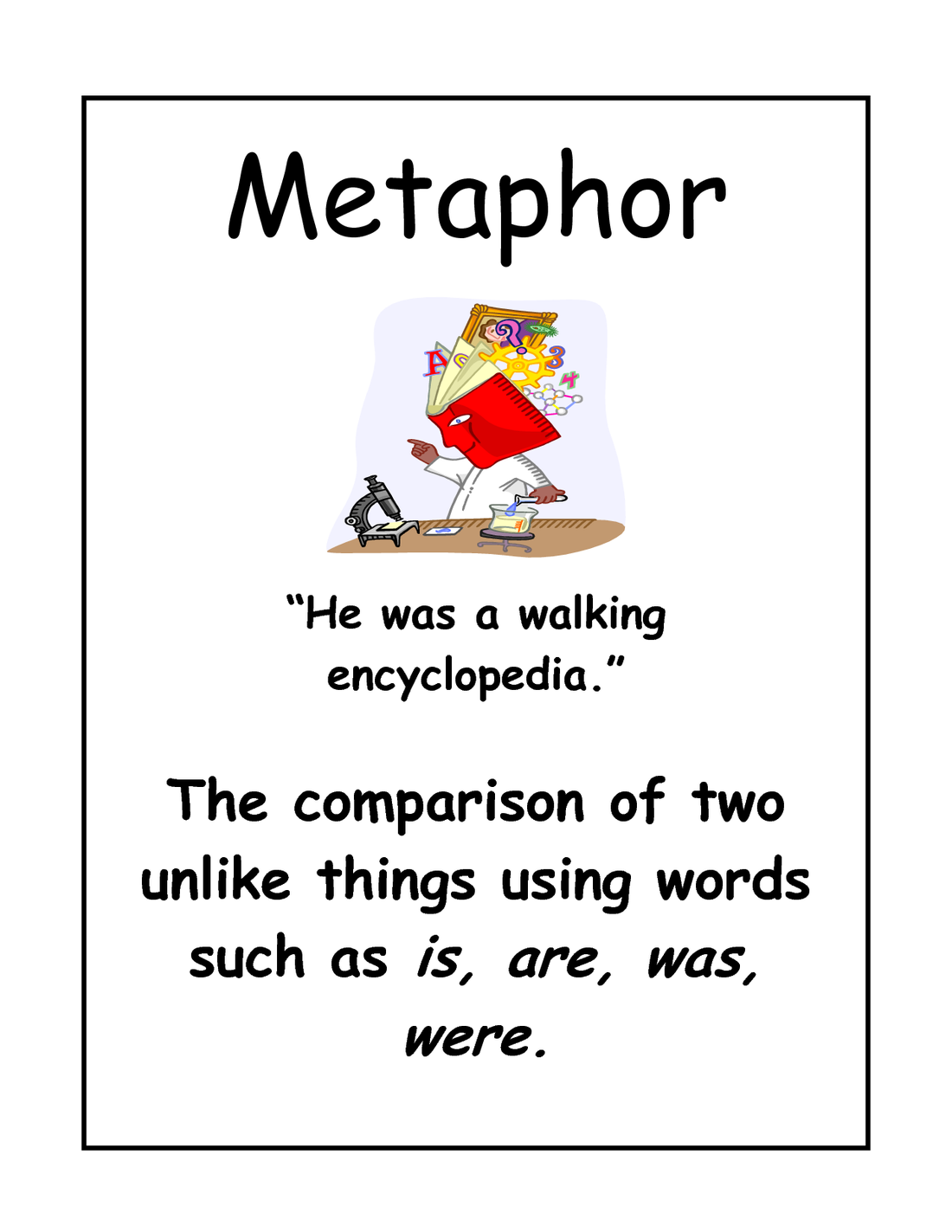 Act essay literature examples of metaphor